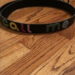 "Paul Frank ""Call Me"" belt"